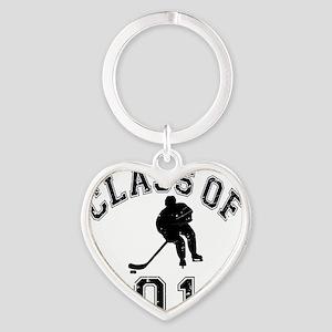 Class Of 2019 Hockey - Black 2 D Heart Keychain
