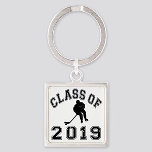 Class Of 2019 Hockey - Black 2 D Square Keychain