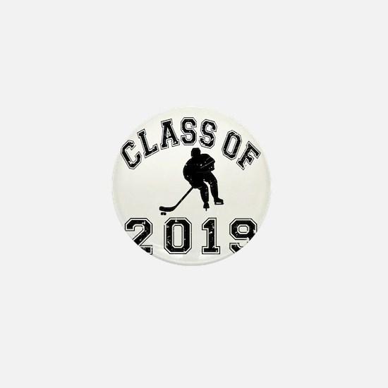 Class Of 2019 Hockey - Black 2 D Mini Button