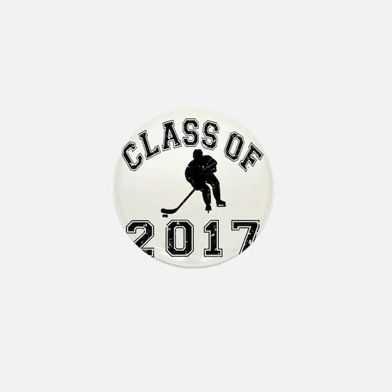Class Of 2017 Hockey - Black 2 D Mini Button