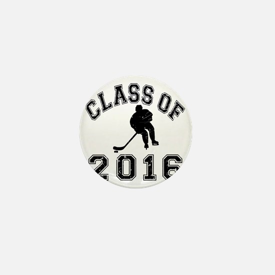 Class Of 2016 Hockey - Black 2 D Mini Button