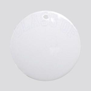 Class Of 2013 Hockey - White 2 D Round Ornament