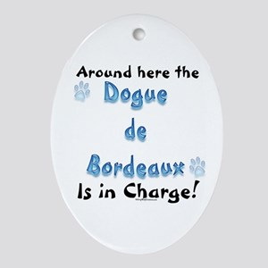 Dogue Charge Oval Ornament