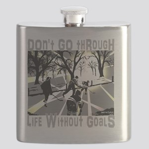 Life and Goals Hockey Fan Flask