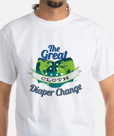 Great Diaper Change Final Logo_SM White T-Shirt