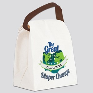 Great Diaper Change Final Logo_SM Canvas Lunch Bag