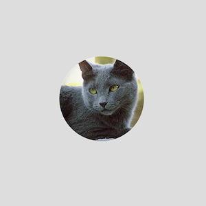 Gray Cat Mini Button