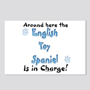 Toy Spaniel Charge Postcards (Package of 8)