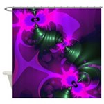Purple Imp Abstract Fractal Shower Curtain