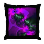 Purple Imp Abstract Fractal Throw Pillow