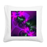 Purple Imp Abstract Fractal Square Canvas Pillow