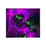 Purple Imp Abstract Fractal Throw Blanket