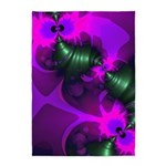 Purple Imp Abstract Fractal 5'x7'Area Rug