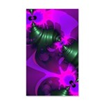 Purple Imp Abstract Fractal 20x12 Wall Decal