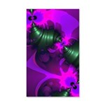 Purple Imp Abstract Fractal 35x21 Wall Decal