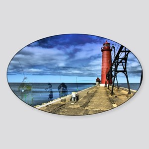 grand haven 2010 hdr 3 ghosts from  Sticker (Oval)