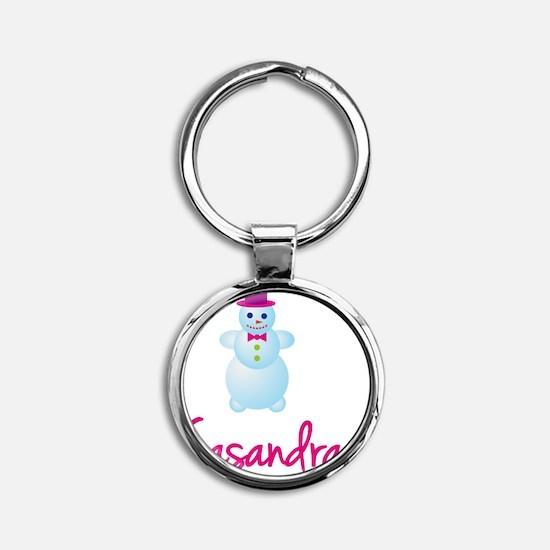 Casandra-the-snow-woman Round Keychain