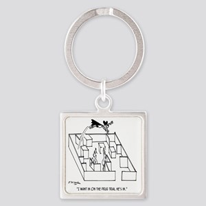 4664_lab_cartoon Square Keychain