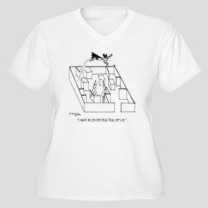 4664_lab_cartoon Women's Plus Size V-Neck T-Shirt