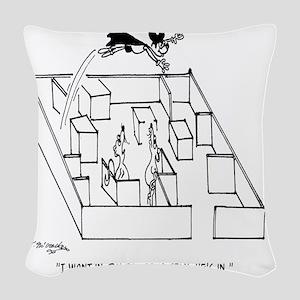 4664_lab_cartoon Woven Throw Pillow