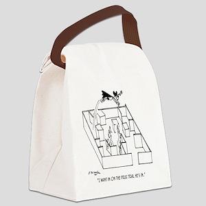 4664_lab_cartoon Canvas Lunch Bag