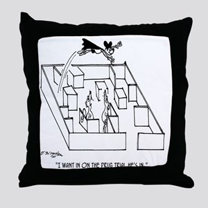 4664_lab_cartoon Throw Pillow