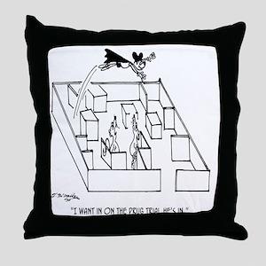 4664_lab_cartoon Throw Pillow