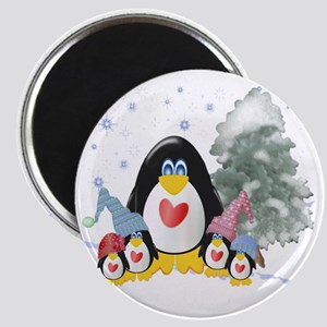 penguins winter-001 Magnet