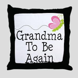 Grandma To Be again Throw Pillow