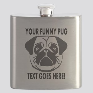 Pug Lover Personalized Funny Flask