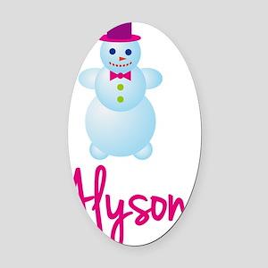 Alyson-the-snow-woman Oval Car Magnet