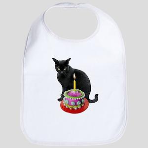 Cat Pearl Cake Baby Bib
