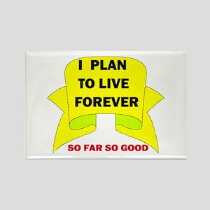 LIVE FOREVER Rectangle Magnet