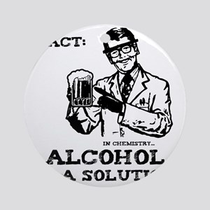 alcoholisasolution Round Ornament