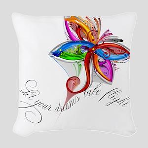 dream-flight-logo Woven Throw Pillow