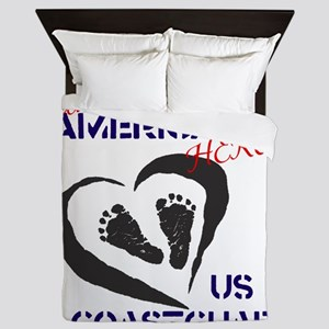 Baby of a Coast Guard Hero Queen Duvet