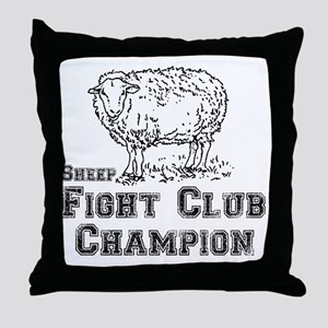 sheep fight club Throw Pillow