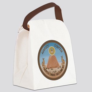 US_Great_Seal_Reverse Canvas Lunch Bag