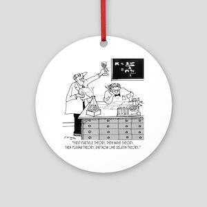 1928_physics_cartoon Round Ornament