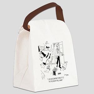 7165_gravity_cartoon Canvas Lunch Bag