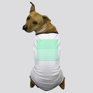 Mint Green and Zigzags. Dog T-Shirt