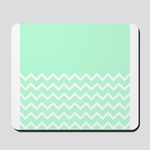 Mint Green and Zigzags. Mousepad