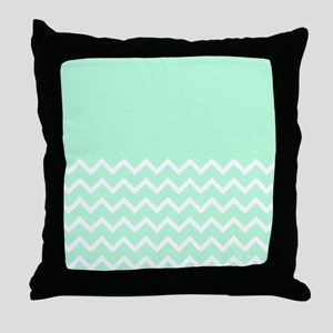 Mint Green and Zigzags. Throw Pillow