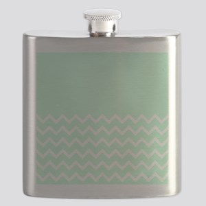 Mint Green and Zigzags. Flask