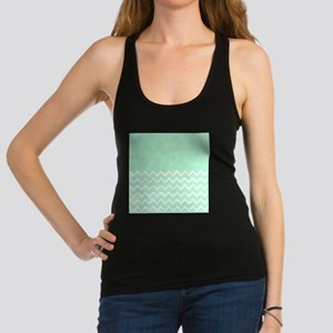 Mint Green and Zigzags. Racerback Tank Top
