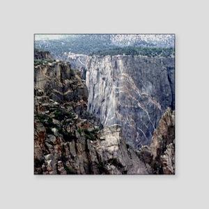 "Colorado Black Canyon 2 Square Sticker 3"" x 3"""