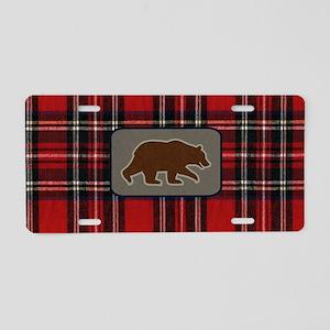 grizzlytoiletrybag Aluminum License Plate