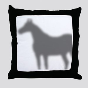 horse-shadow_shower Throw Pillow
