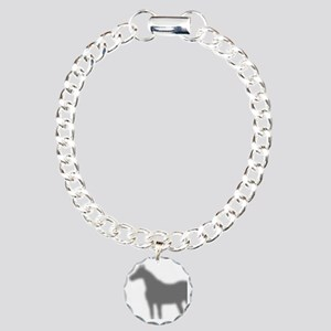 horse-shadow_shower Charm Bracelet, One Charm