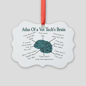 A Vet Techs Brain Picture Ornament